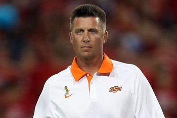 Oklahoma State head coach Mike Gundy's offense will overpower the Mississippi State Bulldogs.