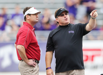 Bob Stoops (left) or Gary Patterson (right) could make a run at the BCS title in 2013.