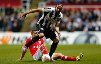More is expected of Newcastle's wide players, including Jonas Gutierrez