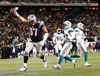 Gronkowski scores against Miami in December.