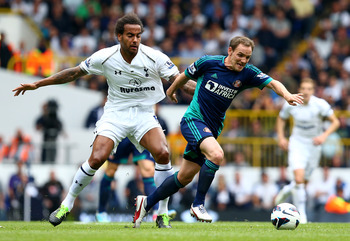 Tom Huddlestone in action against Sunderland.