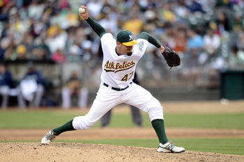 The slinging righty has provided depth in Oakland