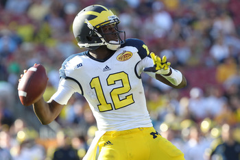 Devin Gardner played admirably in Denard Robinson's place.