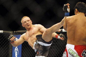 Dennis Siver is one of the best kickboxers in the featherweight division.