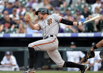 Hunter Pence leads the Giants with 13 home runs.
