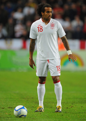 Tom Huddlestone in action for England.