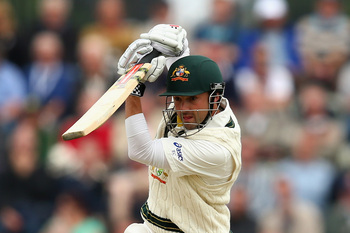 Ed Cowan made a strong claim for the number three position with 58
