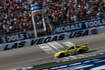 Matt Kenseth's first win for Joe Gibbs Racing came in Las Vegas.