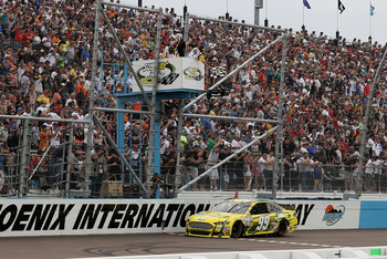 Carl Edwards snapped a nearly two year winless streak in Phoenix.