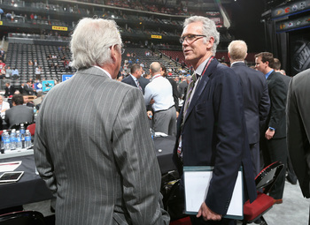 Glen Sather and Craig MacTavish