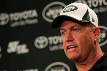 Jets head coach Rex Ryan could be fighting for his job in 2013.
