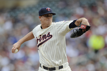 MINNEAPOLIS, MN - JUNE 29: Kyle Gibson #44 of the Minnesota Twins delivers a pitch against the Kansas City Royals during the first inning of the game on June 29, 2013 at Target Field in Minneapolis, Minnesota. (Photo by Hannah Foslien/Getty Images)