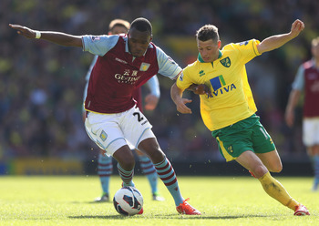 Christian Benteke in action against Norwich City.