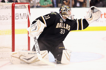 Richard Bachman with the Dallas Stars last season.