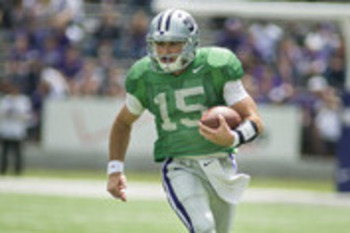 QB Jake Waters. Photo courtesy of Emily DeShazer | K-State Collegian