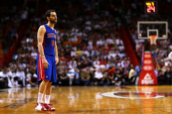 Jose Calderon as a member of the Detroit Pistons.