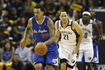 Matt Barnes (left) gets out on the fast break.