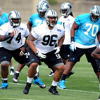 Star Lotulelei (96) highlights this year's crop of rookies.