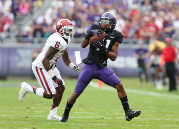 Former TCU wide receiver Skye Dawson can also return punts and kickoffs.