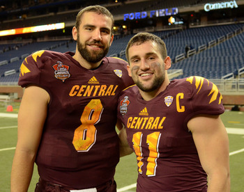 Wilson (right) was a team captain for the Chippewas.
