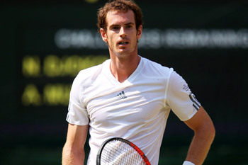 Wry smile from Andy Murray, Wimbledon 2013