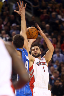 Linas Kleiza was buried far down the Toronto Raptors' depth chart after the Rudy Gay trade in February.