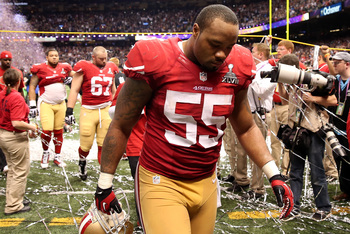 Might Ahmad Brooks (right) miss time in 2013?