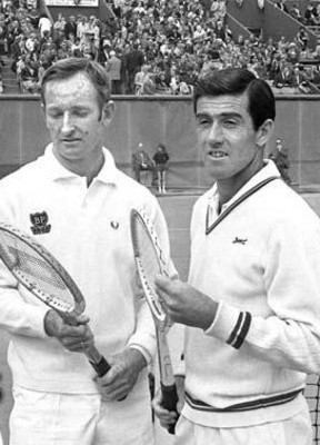 Rod Laver (left) and Ken Rosewall
