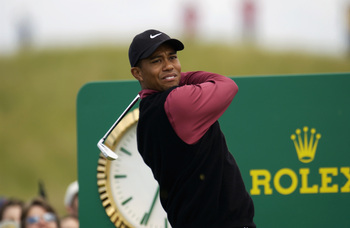 Woods got off to a strong start at the 2002 Open Championship at Muirfield before bad weather beached him in the third round.