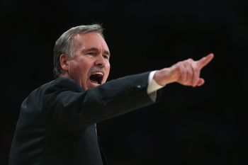 Mike D'Antoni coaching the LA Lakers
