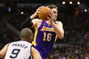 Pau Gasol of the LA Lakers