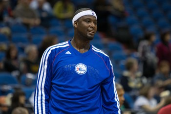 Former No. 1 overall pick Kwame Brown is barely clinging to a roster spot in Philadelphia.