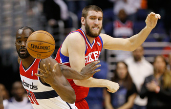 While Spencer Hawes may end up coming off the bench behind Nerlens Noel, he is still the best defensive player on the roster.
