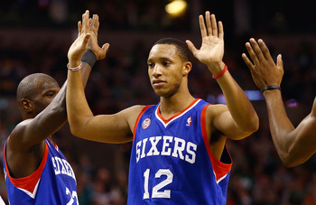 Evan Turner is one of the young stars on the 76ers, and he was first on the team in defensive rebounds last season.