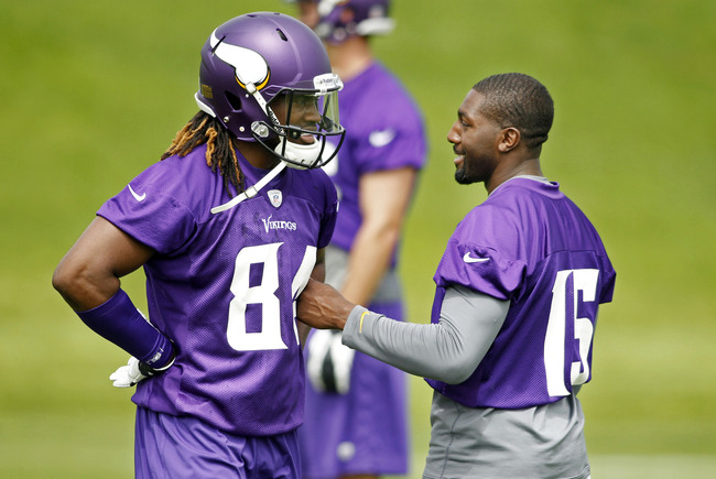 Left, Cordarelle Patterson Right, Greg Jennings