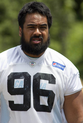 Carolina's first draft pick this season, Star Lotulelei