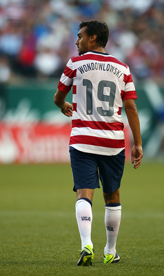 Wondolowski's misspelled uniform from the game vs. Belize.