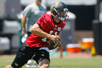 Blaine Gabbert will likely start at quarterback for the Jaguars in 2013, but he may not in 2014.