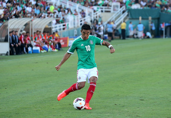 Marco Fabian scored a penalty against Canada.