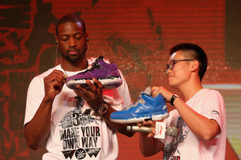 Dwyane Wade has expanded his marketing horizons, most recently to Li-Ning in China.