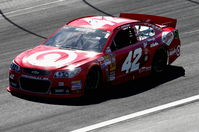 CONCORD, NC - MAY 25:  Juan Pablo Montoya drives the #42 Target Chevrolet, during practice for the NASCAR Sprint Cup Series Coca-Cola 600 at Charlotte Motor Speedway on May 25, 2013 in Concord, North Carolina.  (Photo by Jeff Zelevansky/Getty Images)