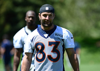 Wes Welker gives the Broncos one of the deepest receiving corps in the NFL.
