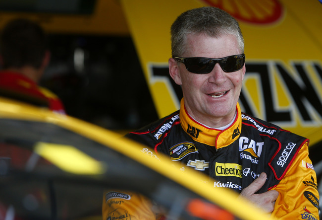 May 10, 2013; Darlington, SC, USA; NASCAR Sprint Cup Series driver Jeff Burton during practice for the Southern 500 at Darlington Raceway.  Mandatory Credit: Jerry Lai-USA TODAY Sports
