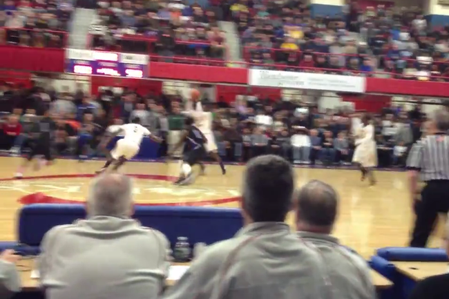 Edney's inbounds pass gets intercepted at mid court. (Video by Mike Zacchio/The Journal News)