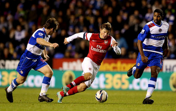 Arshavin in action for Arsenal
