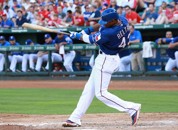 In his rookie year, Engel Beltre has put up solid numbers with the Texas Rangers.