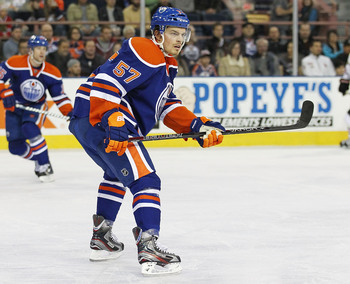 Anton Lander will hope to stick with the Oilers and have an impact this season.