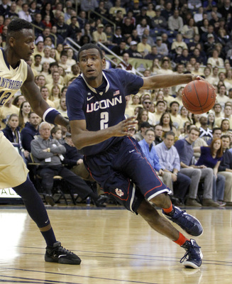 Athletic forward DeAndre Daniels averaged 12.1 points and 5.5 rebounds last season for Connecticut.