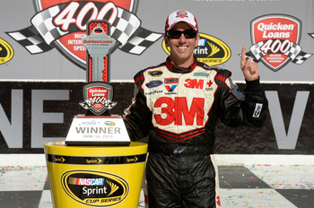 Greg Biffle is the most recent winner at Michigan International Speedway.