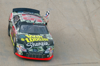 Kurt Busch's first career win came at Bristol in 2002 driving for Jack Roush.